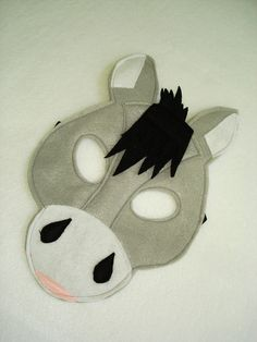 Children's DONKEY Farm Animal Felt Mask by magicalattic on Etsy                                                                                                                                                                                 More
