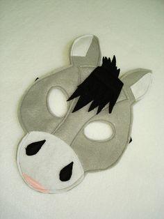 Children's DONKEY Farm Animal Felt Mask by magicalattic on Etsy                                                                                                                                                                                 More
