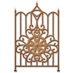 Gate Element - SKU: S2-108  Price: $9.99 - Approximate Die Template Sizes:  2⅛ x 3⅜""