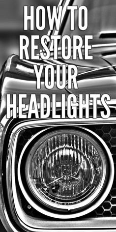 Many car manufacturers today use polycarbonate plastic when making their headlights. It's a relatively inexpensive material that's durable, scratch resistant and can withstand being hit by rocks and stones. Car Cleaning Hacks, Car Hacks, Diy Cleaning Products, Cleaning Solutions, Cleaning Headlights On Car, How To Clean Headlights, Car Headlights, Headlight Cleaning, Rust Removal From Tools