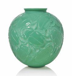 A Gros Scarabees Vase, No. 892 #Lalique