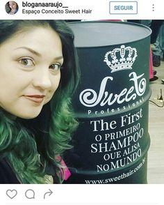 Sweet Hair Professional é sucesso por onde passa. The First, o primeiro shampoo que alisa no mundo, agora conquista os corações com a linha home care! ❤ #thefirstsweethair #sweethairprofessional