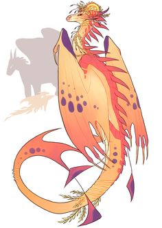 Queen Daybreak by Spookapi on DeviantArt - Lara Wings Of Fire Dragons, Cool Dragons, Mythical Creatures Art, Fantasy Creatures, Creature Drawings, Animal Drawings, Dragon Poses, Manga Dragon, Dragon Sketch