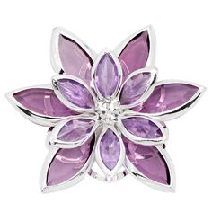 10PCs Embellishment Findings Cabochon Flower Rhinestone Silver Plated Purple 3.5x3cm DIY Fine Jewelry Findings Hot Sale