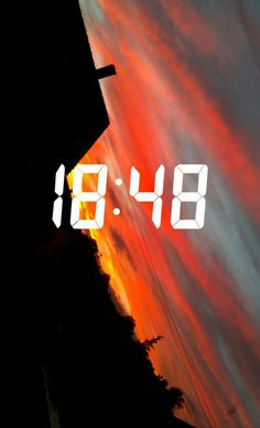 #Snapchat#Sonnenuntergang#18:48 @lovely things