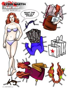 Lydia Martin of Teen Wolf Paper Doll by Andy Swist