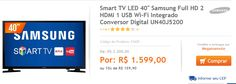 "Smart TV LED 40"" Samsung Full HD 2 HDMI 1 USB Wi-Fi Integrado Conversor Digital UN40J5200 << R$ 159900 em 10 vezes >>"