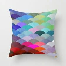 Rainbow colorful pillows