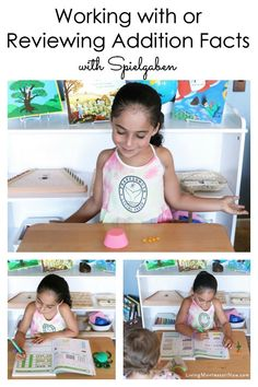 Ideas for using Spielgaben educational toys and the math workbook series to work with or review addition facts - Living Montessori Now #Spielgaben #Spielgabenaddition #spielgabendots #mathworkbook What Is Montessori, Montessori Kindergarten, Montessori Elementary, Montessori Classroom, Montessori Activities, Hands On Activities, Learning Activities, Math Sites, Math Workbook