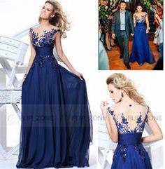 Wholesale Cheap Under Tarik ediz Evening Dresses Sheer Neckline Short Sleeves Backless Applique Chiffon Plus Size Party Prom Formal Gowns