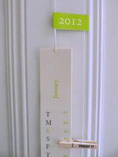 Perforated Paper Calendar