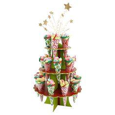 Proyectos  Dulcero conos base pino de navidad con estrellas