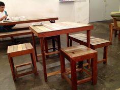 warm looking, simple furniture