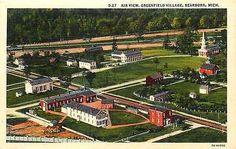 Dearborn Michigan MI 1937 Aerial View Greenfield Village Vintage Postcard