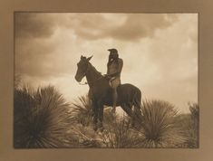 Edward S. Curtis - The Scout - Apache, This and more important photography on CuratorsEye.com