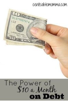 Think that $10 can't make a difference on paying down debt?  Not so!  $10 a…