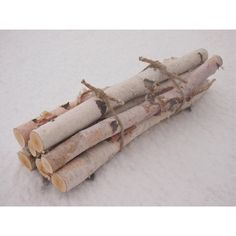 7 WHITE BIRCH LOGS In a FirePlace Bundle - Natural Woodland Decor -... ($20) via Polyvore featuring home, home decor, fireplace accessories, flower stem, log home decor, rustic home accessories, flower home decor and log baskets