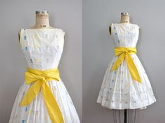 vintage 1950s Sunny Side of the Street dress