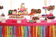 "Photo 2 of 15: candy land / rainbow / Birthday ""Cami's Candy Land!"" 