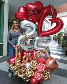 Balloon Arch Diy, Balloon Display, Balloon Gift, Balloon Decorations Party, Balloon Columns, Birthday Party Decorations, Happy Balloons, Number Balloons, Valentines Balloons