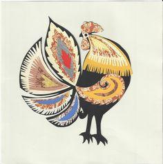 Free Printable Rooster | polish folk art paper cut