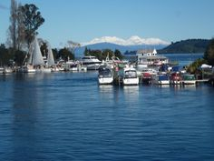 Mountains from Taupo Boat Harbour