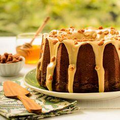 Honey Roasted Peanut Butter Pound Cake for #BundtBakers
