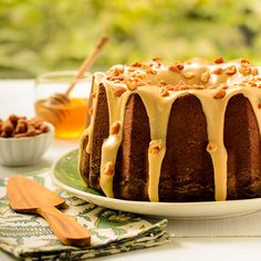 Honey Roasted Peanut Butter Pound Cake for #BundtBakers