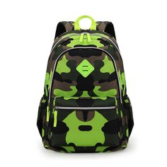 20bdd52b7121 Check out my new Camouflage Green School Bag Backpack for Boys