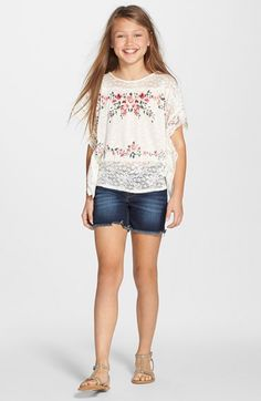 Soprano Lace Floral Top (Big Girls) available at #Nordstrom