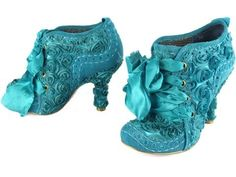 Blue Heels! Wear once, only walking for a few feet and sitting a lot.