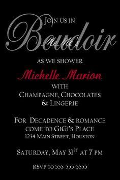 Lingerie shower invitations cheap