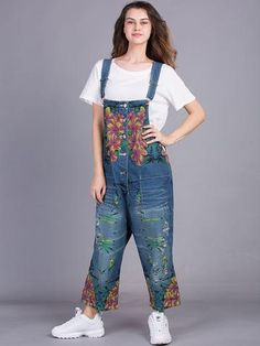 782fedebe33 2019 new jeans women jumpsuit denim romper overalls casual long ...
