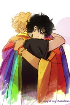 Solangelo <--- The fact that will is in a rainbow poncho-like coat makes this 10000% better.