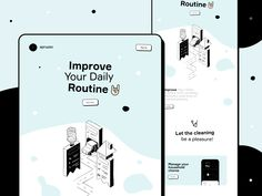 Daily Routine & Self-Care Services by Cuberto App Ui Design, Branding Design, Web Design, Project Management Dashboard, Household Chores, Landing Page Design, Job Opening, Ui Design Inspiration, Self Care