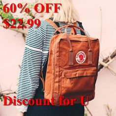 Fjallraven Kanken Classic backpack in brick with free UK delivery. Mochila Kanken, Punk Outfits, Books And Tea, Look Fashion, Fashion Design, Fashion Trends, Dr. Martens, Big Backpacks, Overall