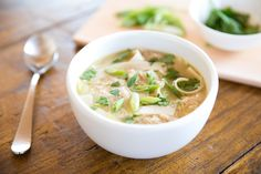 Learn how to make delicious Asian Chicken Soup with Gluten Free Egg Tagliatelle straight from the experts at Jovial Foods. Gluten Free Rice, Gluten Free Pasta, Gluten Free Recipes, White Miso, Sriracha Sauce, Asian Chicken, Chicken Soup, Soups And Stews, Paleo