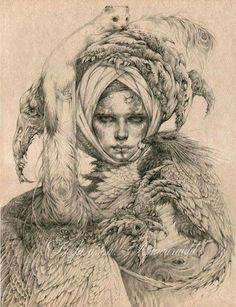 [ Lady with Ermine ]  Graphite pencil work by Olga (www.anwaraidd.deviantart.com)