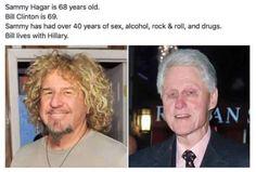 Sammy Hagar + Bill Clinton