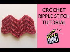 Crochet Ripple Stitch Tutorial - YouTube