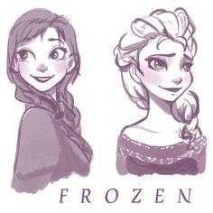 Anna and Elsa <3