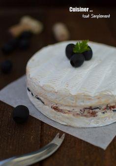 Brie Farci Tomate, Olive et Mascarpone - Cuisiner... tout Simplement, Le Blog de cuisine de Nathalie