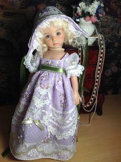 Effner Little Darling Doll Regency Embroidered Dress Bonnet and Pantaloons | eBay