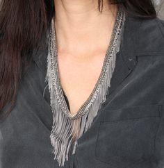 Nude sendre necklace (Marie-Laure Chamorel) shop it on Les trouvailles d'Elsa.fr