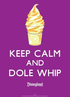 Keep Calm and Dole Whip - Walt Disney World - Orange Leaf has dole whips now! A little piece of Disney to brighten the day. Walt Disney World, Disney World Resorts, Disney Vacations, Disney Trips, Disney Parks, Disney College, Disney Destinations, Dole Whip Disneyland, Disneyland Meme