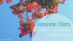 Japanese fillers and useful words to start a conversation and keep it going. Learn these words to learn how to speak a more natural Japanese.