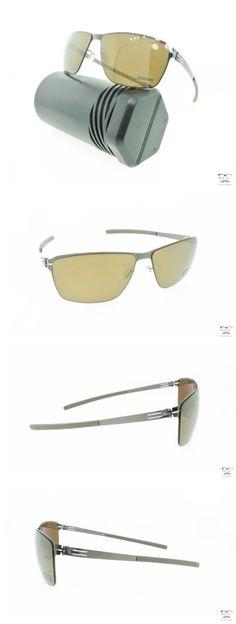Other Unisex Eyewear 179246: Ic! Berlin Sunglasses Oli Gunmetal Metal Frames Polarized Mirrored Dark Brown -> BUY IT NOW ONLY: $285 on eBay!