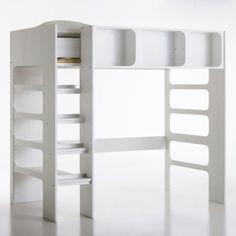 Lit haut 90 x 200 collection be bop fabricant de meubles gautier 1035 euros - La redoute lit mezzanine ...