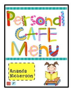 Do you use the Daily 5 or CAFE for your literature block? This packet will allow students to record their own copies of the classroom CAFE Menu to ...