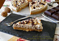 Cheesecake senza cottura alle noci e cioccolato | Miele farina & fantasia